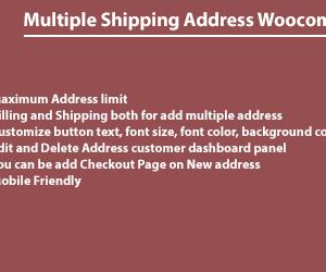 Multiple Shipping Address Woocommerce