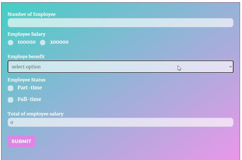 Calculator Form Demo